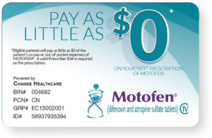 Motofen Savings Card.